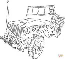 army cars coloring pages willys mb u s army truck coloring page free printable