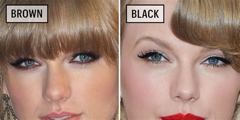 Black Brown wearing black versus brown eyeliner why you
