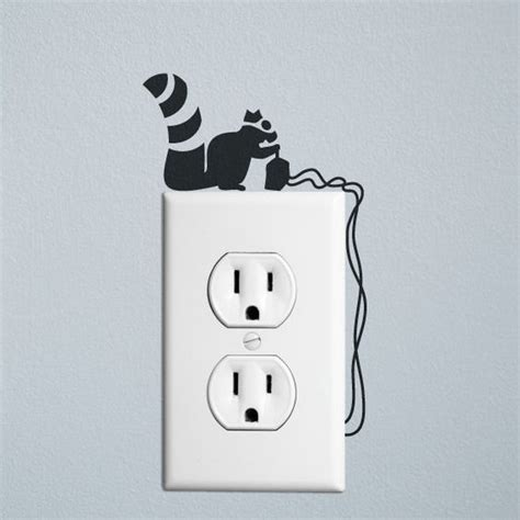 wall sticker outlet squirrel robber wall decal sticker for wall switches and