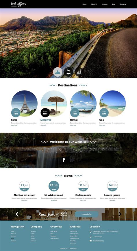 drupal theme travel travel agency responsive drupal template 51792