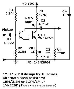 darlington transistor gain calculation mpf102 fet prelifier faqs part 7 other prelifier circuits