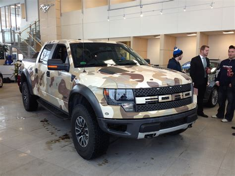 ford hunting truck ford f 150 raptor vinyl wrapped in camo perfect hunting