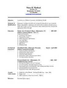 Medical Assistant Resumes And Cover Letters Resume Cover Letter Examples Medical Assistant Best Resume