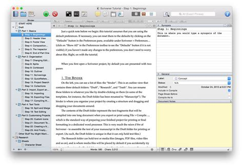 Novel Outline Software Mac by The Best Writing App For Mac And Iphone The Sweet Setup