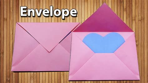 How To Make Paper Glue At Home - origami envelope with paper without glue and