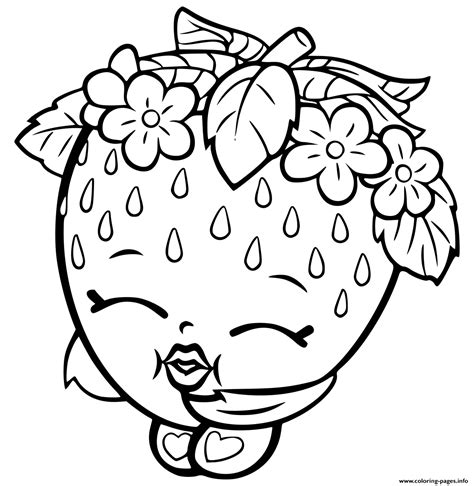 coloring book pages online shopkins strawberry coloring pages printable