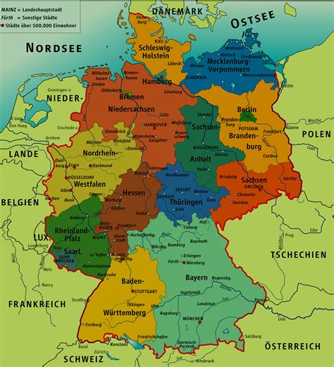 cities in germany things about germany map