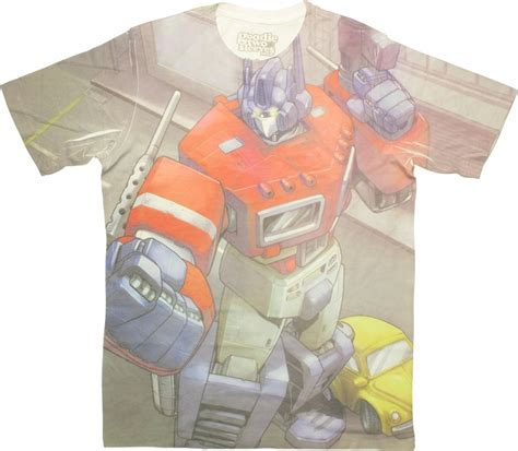 Sandal Print Transformer Optimus Prime transformers optimus prime sublimated t shirt sheer