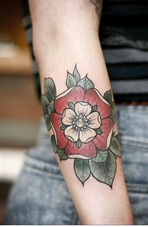 england rose tattoo tudor ideas