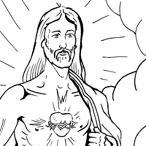 sacred heart coloring page sketch coloring page