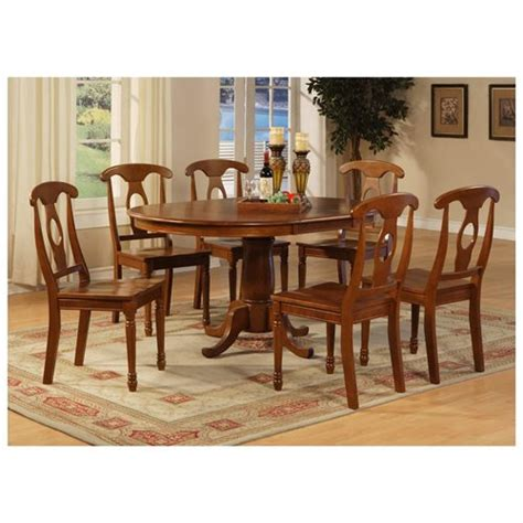 Oval Dining Room Table Set With Leaf 7 Dining Room Set Oval Dining Table With Leaf And 6