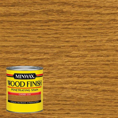 minwax 1 qt wood finish cherry based interior stain