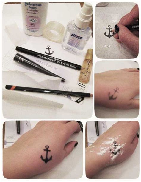 how to do a fake tattoo make a temporary cool ideas and temporary