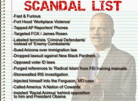 list of federal political scandals in the united states report eric holder considering running for president in
