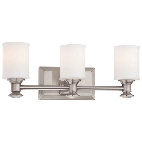 Minka Lavery Bathroom Lighting Minka Lavery Harbour Point 3 Light Brushed Nickel Bath Light 5173 84 The Home Depot