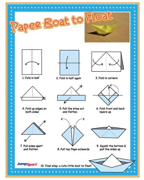 Paper Boats That Float - origami test the waters with paper boat to float