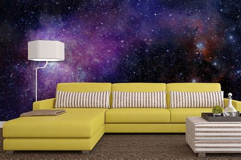 galaxy wallpaper by fototapeta4u pl bedroom