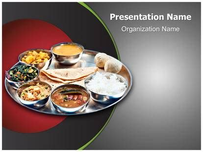 Indian Food Powerpoint Template Background Subscriptiontemplates Com Food Powerpoint Templates
