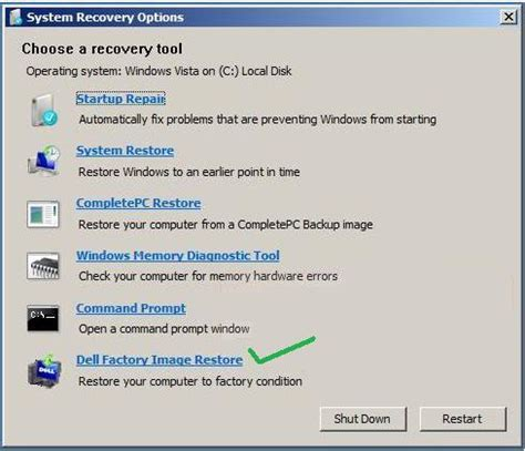 factory reset vista i want to restore my dell inspiron back to the factory