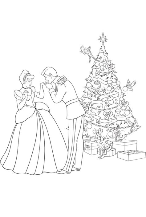 cinderella christmas coloring pages festival collections