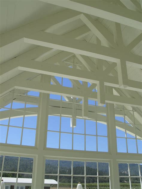 vaulted ceiling trusses vaulted open truss ceiling clyde construction inc
