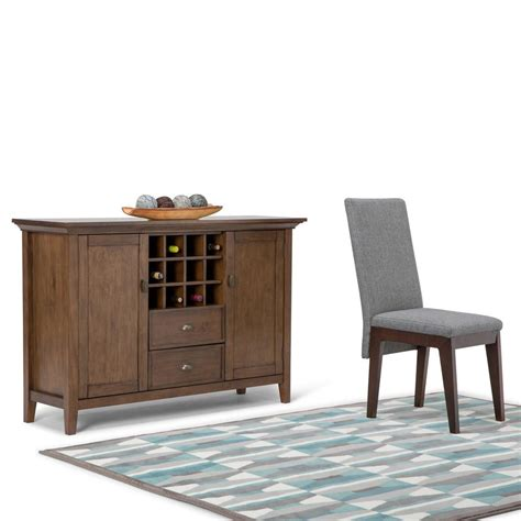 simpli home redmond rustic aged brown buffet with