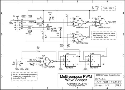 circuit diagram to generate pwm waveform wiring