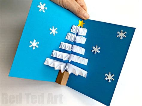how to make a pop up tree card diy pop up card ted s