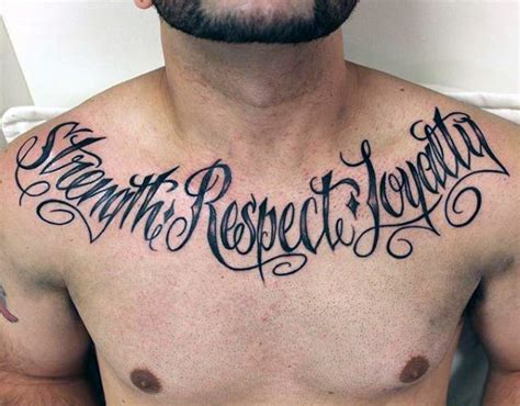 tattoo chest words 60 strength tattoos for men masculine word design ideas