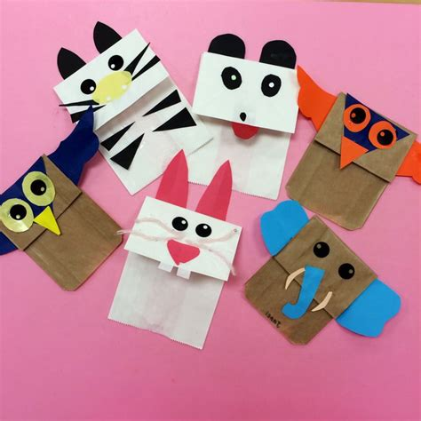 How To Make A Paper Bag Puppet Animal - animal paper bag puppets animal crafts