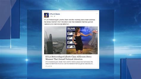 dress weather anchor 23 ktla weather anchor s dress sparks social media firestorm