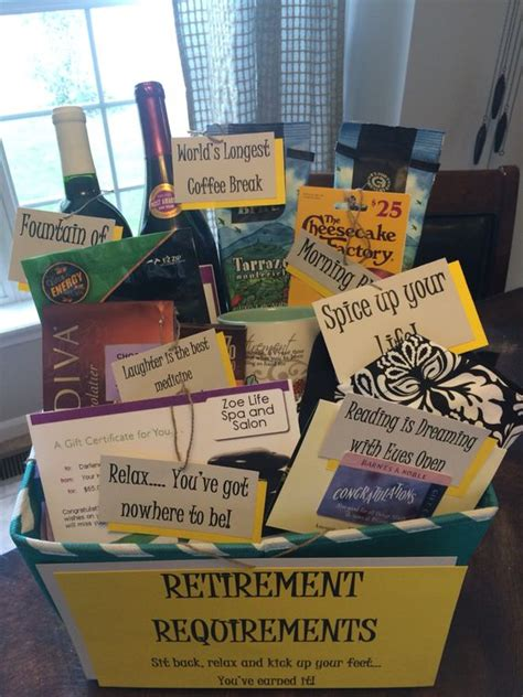 cute retirement gift basket diy pinterest retirement