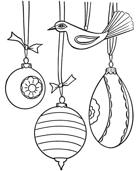 Tree Coloring Page With Ornaments Free Coloring Pages Christmas Ornaments Coloring Page