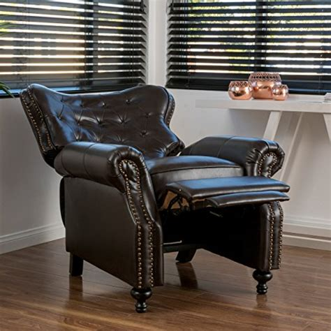 leather recliner chair reviews product reviews buy waldo brown leather recliner club chair