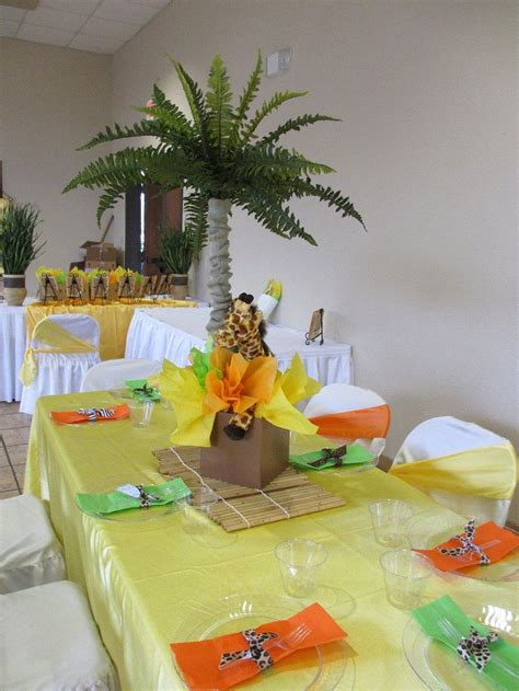 jungle themed centerpieces for baby shower safari baby shower decoration ideas search baby