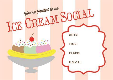 Free Printable Ice Cream Social Invite Social Invitation Template Free
