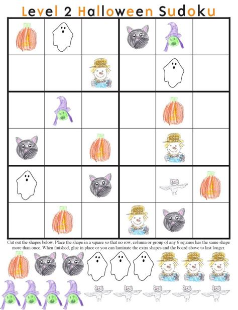 printable halloween sudoku halloween board games printable free images