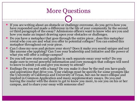 Challenge Essay Exle by 2014 Communicating Your Story 10 Tips For Powerful College App Essays