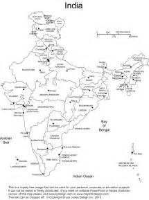 India Physical Map Outline In A4 Size by Printable Map Of India