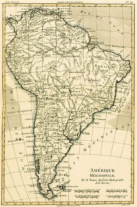 south america map to draw map of south america drawing by guillaume raynal