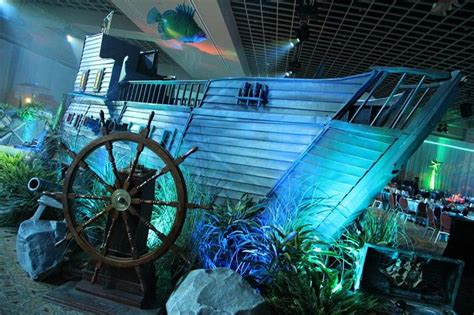 water themed events underwater themed event sunken ship with lighting and