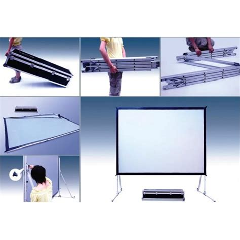 Layar Proyektor Screenview Tripod Screen 1717l layar screenview folding front rear 200 320 x 427 cm