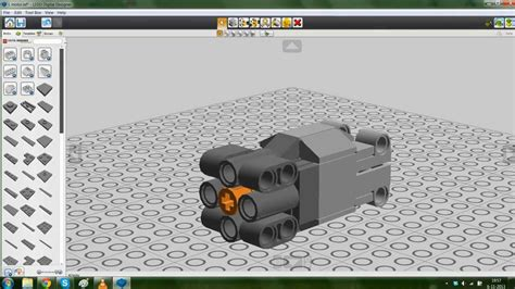 lego digital designer l motor youtube