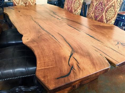 The Maine Dining Room by Natural Slab Mesquite Wood Dining Table