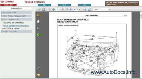 auto repair manual free download 2008 toyota highlander seat position control toyota highlander kluger service manual repair manual order download