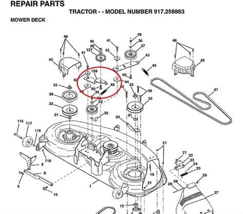 craftsman lt1000 mower deck diagram craftsman mower deck diagram pictures to pin on