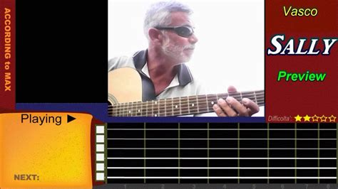 vasco chords sally vasco accordi chitarra tutorial with tabs