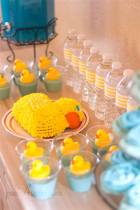 rubber duck birthday party  clouded glass