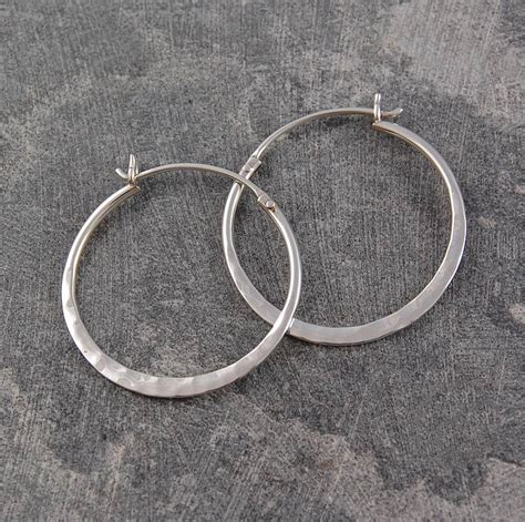 battered silver small hoop earrings by otis jaxon silver