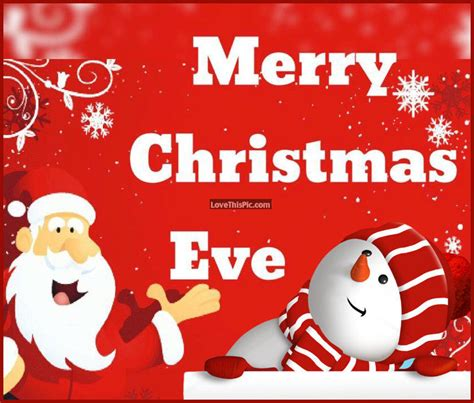 merry christmas eve santa  snowman quote pictures   images  facebook tumblr